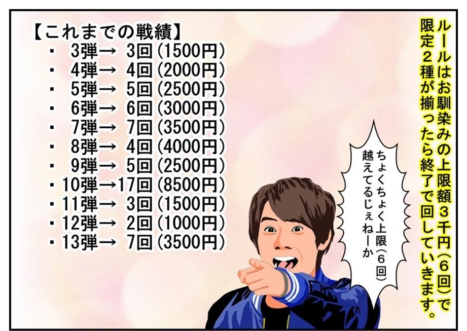【漫画で雑記】上限額3000円(6回)で『メテオストーム』と『ビーストハイパー』を狙う!(GPライドウォッチ14)_f0205396_16395108.jpg