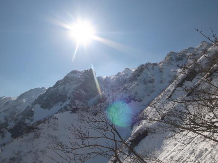 大山北壁7合尾根&カニスキ_d0264710_08582051.jpg