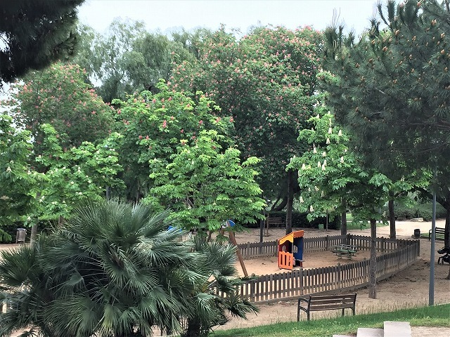 セルバンテス公園から続く遊歩道_b0064411_01250445.jpg