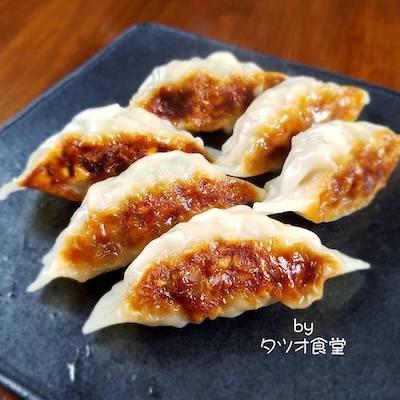 本日の朝食惣菜は焼き餃子<おうちごはん>_a0293265_15103620.jpg
