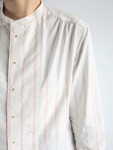 ASEEDONCLOUD Formal Shirt - Oykotoen Stripe Red_b0139281_14324331.jpg