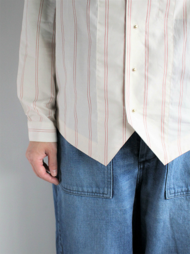 ASEEDONCLOUD Formal Shirt - Oykotoen Stripe Red_b0139281_1432558.jpg