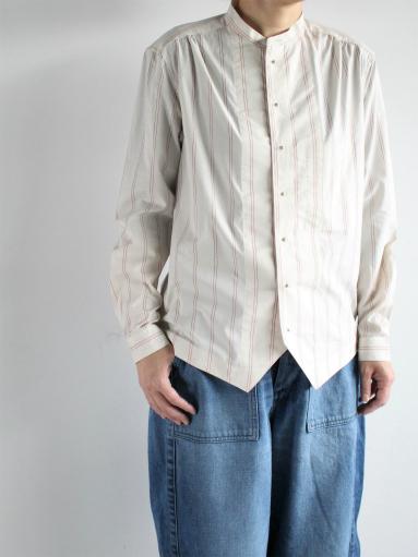 ASEEDONCLOUD Formal Shirt - Oykotoen Stripe Red_b0139281_14332557.jpg