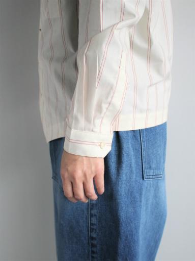 ASEEDONCLOUD Formal Shirt - Oykotoen Stripe Red_b0139281_1433356.jpg