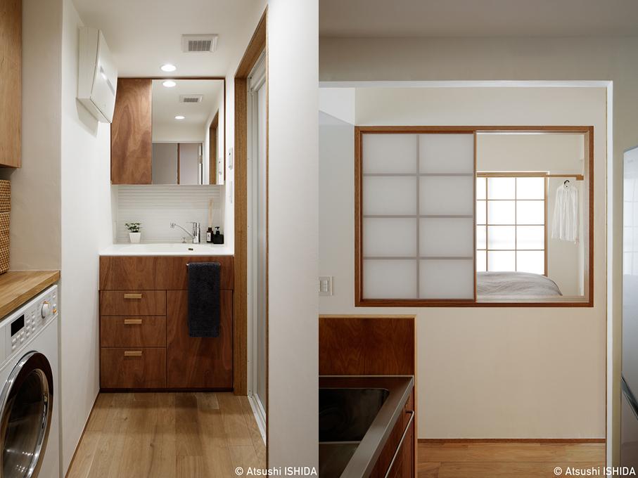 竣工写真・洗面室と寝室(上池台313)_b0061387_14151715.jpg
