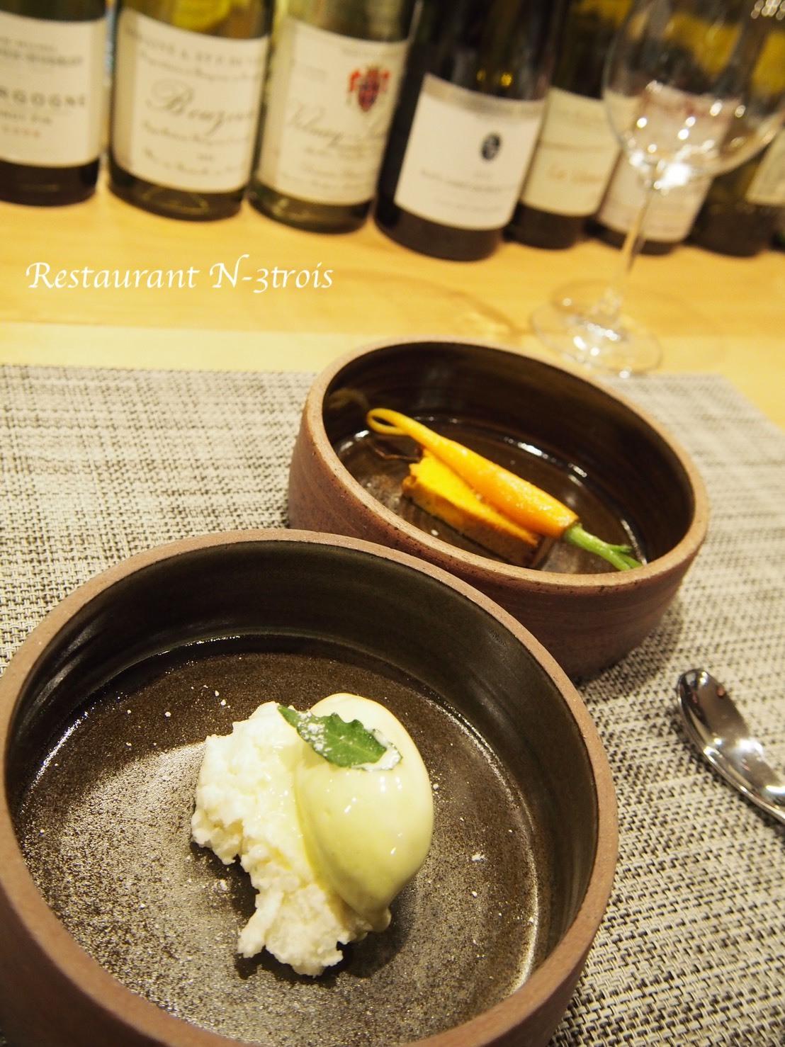 2人のシェフのコラボディナーinレストラン・エヌトロワ La collaboration de deux chefs au restaurant N-3trois_e0243221_04155953.jpg