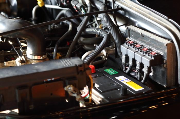 ご納車のブラックTJ 作業進行中_f0105425_18344050.jpg