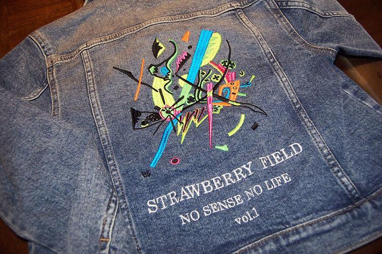 持ち込みのJrサイズのGジャンにオリジナルデザインの刺繍を入れました!_e0260759_10020344.jpg