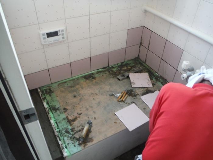 タイル張り浴室の浴槽入れ替え ~ タイル張り_d0165368_04070023.jpg