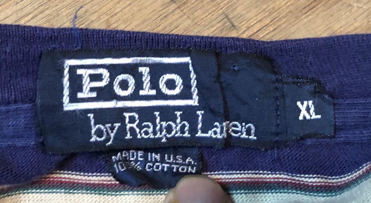 4月27日(土)入荷!80s all cotton MADE IN U.S.A ラルフローレン ボーダー Tシャツ!_c0144020_14005368.jpg