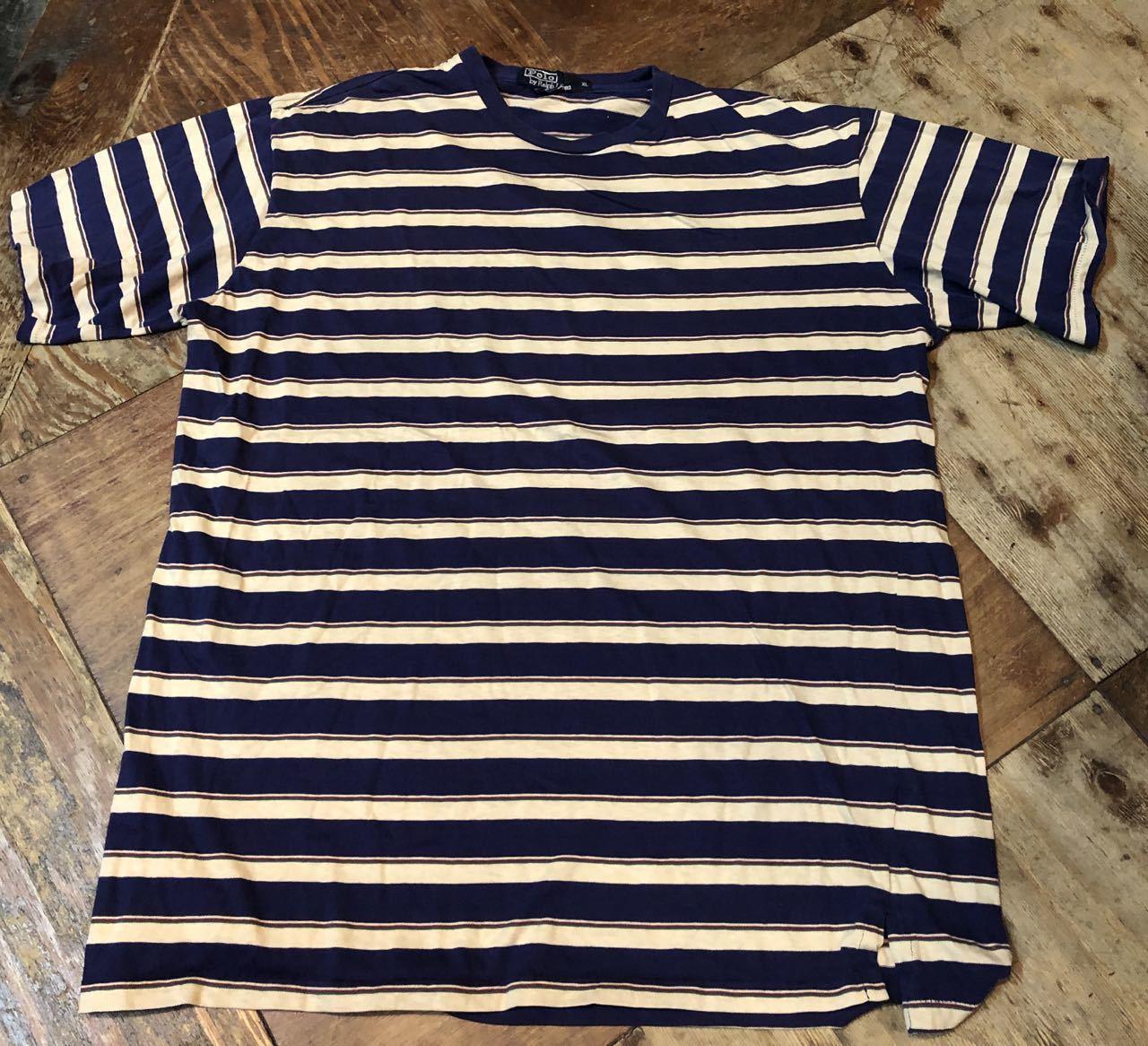 4月27日(土)入荷!80s all cotton MADE IN U.S.A ラルフローレン ボーダー Tシャツ!_c0144020_14015254.jpg