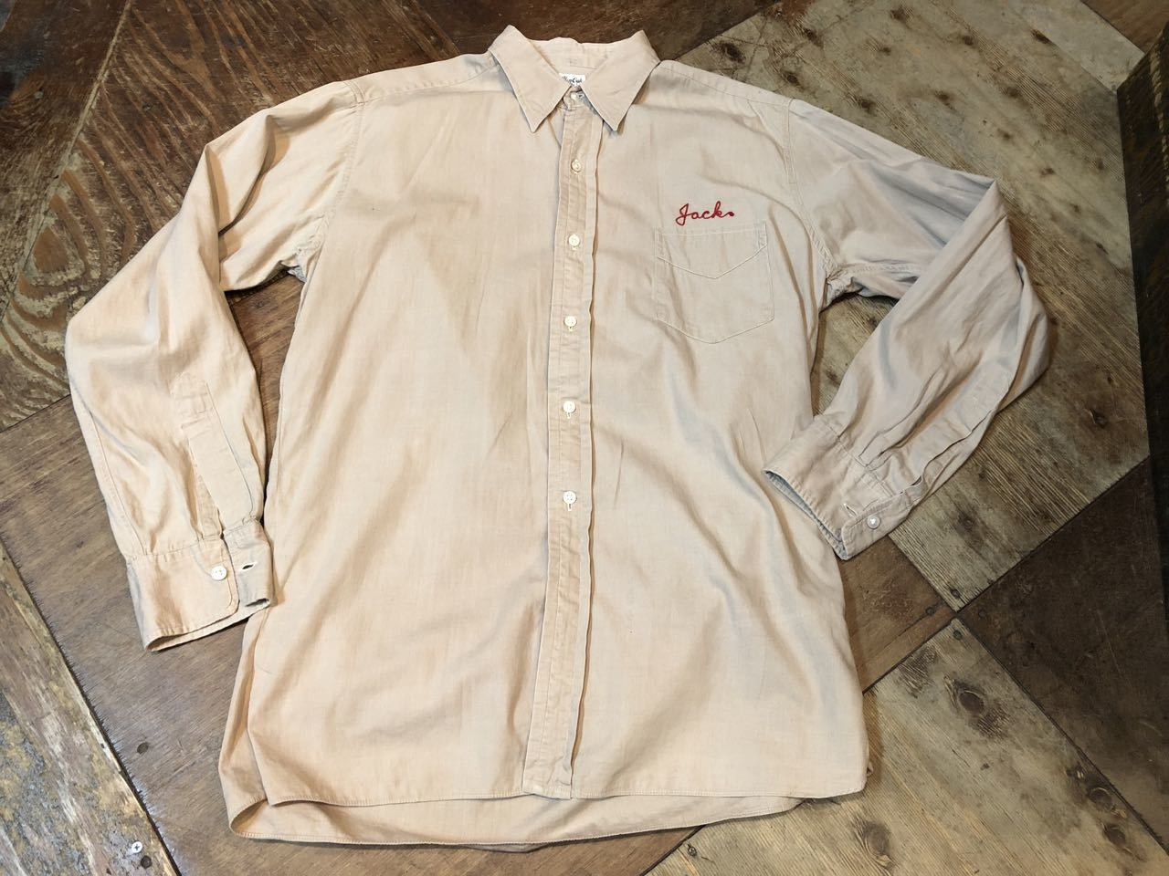 4月27日(土)入荷!40s  GlenOak de luxe all cotton  Embroidery work shirts!!_c0144020_14374942.jpg