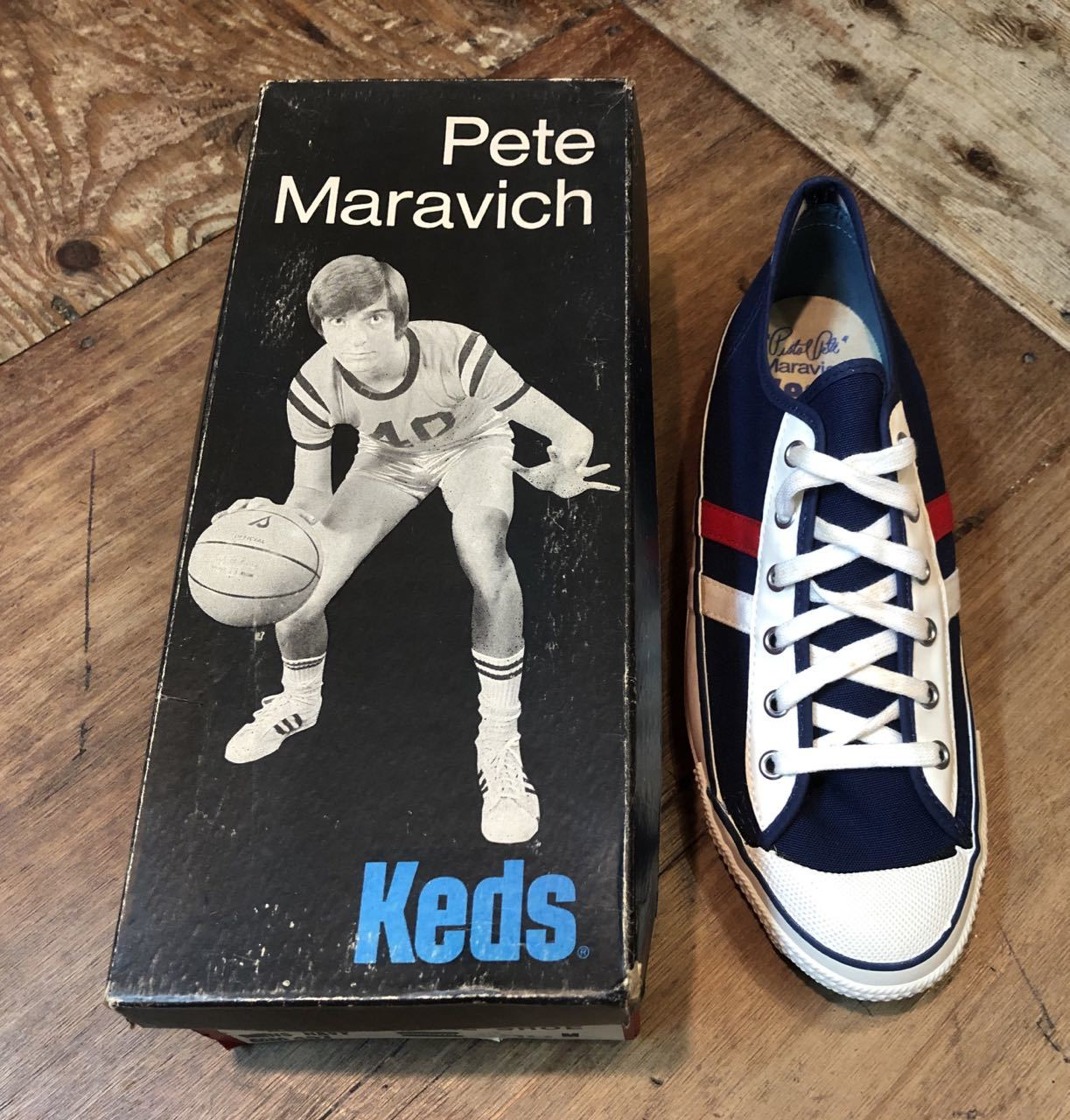 4月27日(土)入荷!デッドストック 60s~70s  KEDS  PETE MARAVIC(ピストル ピート)キャンバスシューズ!_c0144020_14435339.jpg