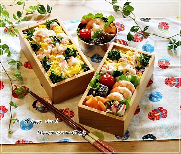 五目ちらし寿司弁当とネイルとわんこ♪_f0348032_17243596.jpg