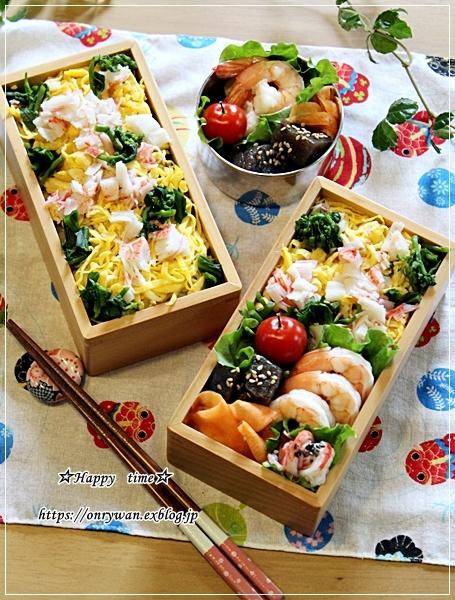 五目ちらし寿司弁当とネイルとわんこ♪_f0348032_17244283.jpg
