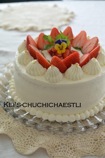 苺のショートケーキ_c0287366_1605424.jpg