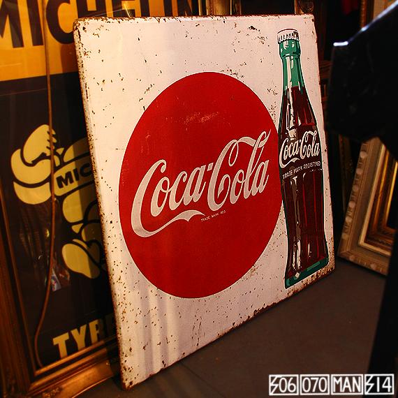 1970s Vintage コカコーラのブリキ看板 DRINK COCA COLA_e0243096_10242468.jpg