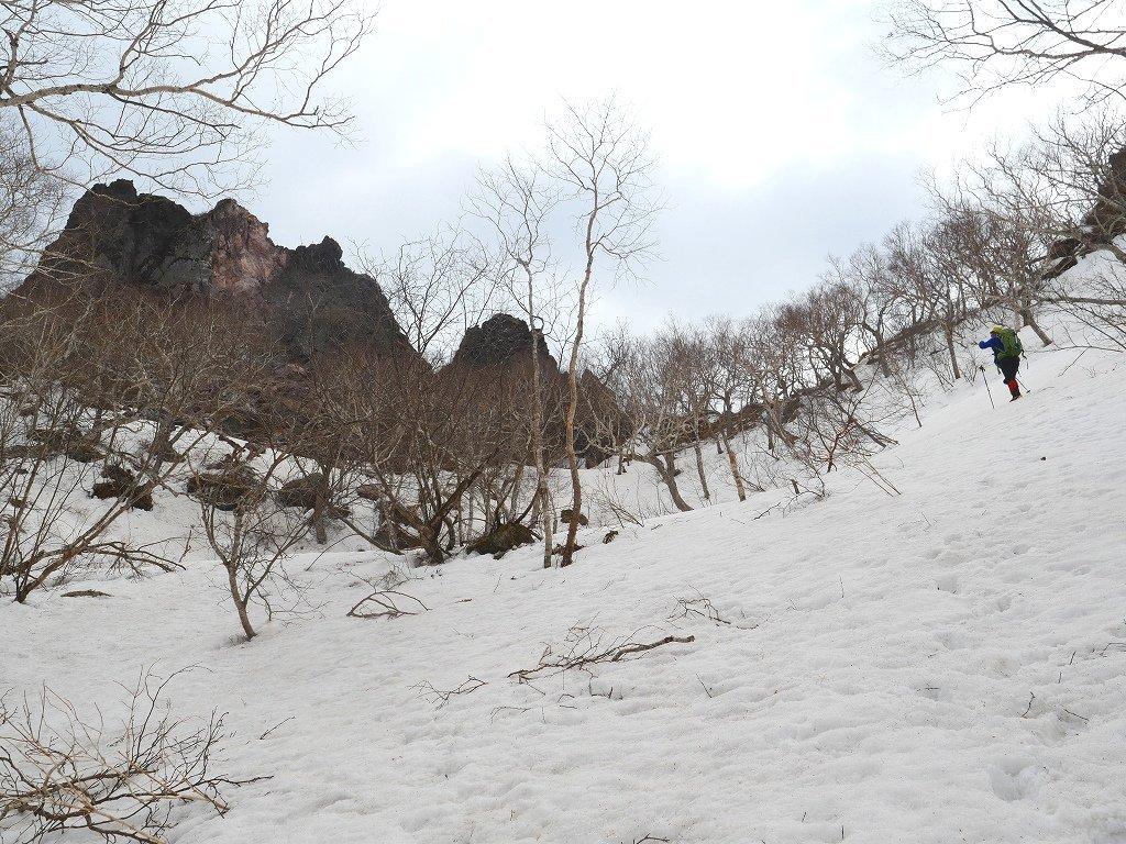 恵庭岳ジャンダルム、2019.4.23_f0138096_14093694.jpg