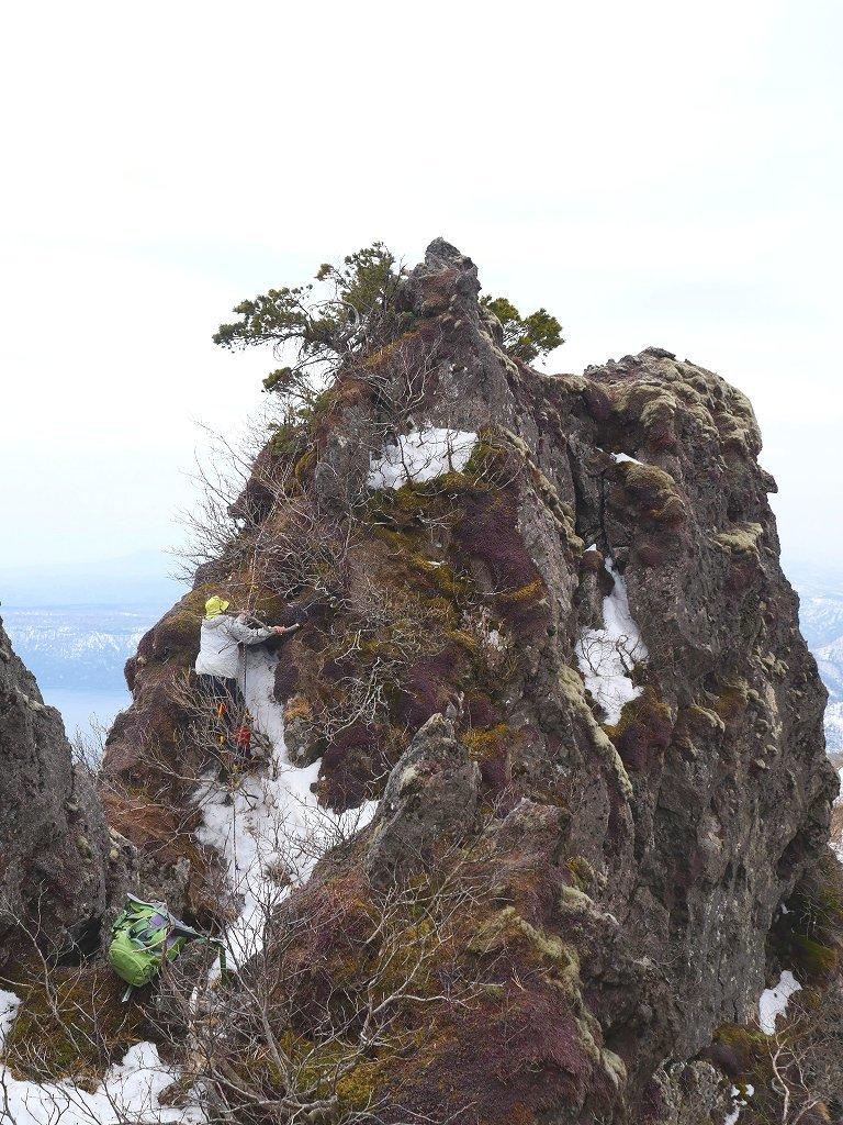 恵庭岳ジャンダルム、2019.4.23_f0138096_14101202.jpg