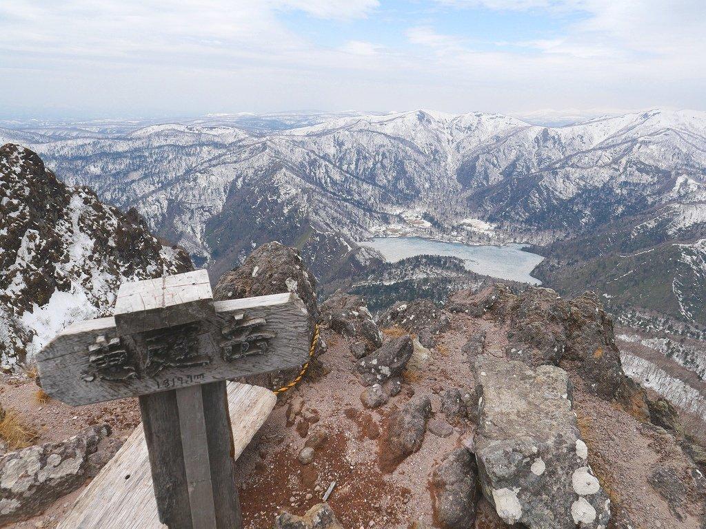 恵庭岳ジャンダルム、2019.4.23_f0138096_14102039.jpg