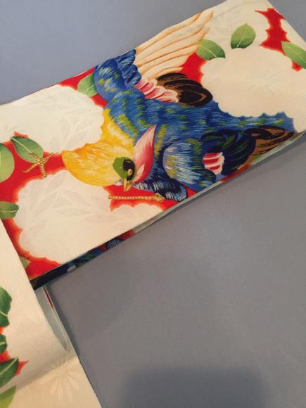 4/29より!原宿「おさんぽきもの」水色更紗単衣着物×赤鳥花帯♪販売商品11_c0321302_18484088.jpg