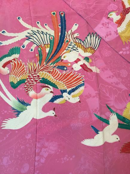 4/29より!原宿「おさんぽきもの」プチプラ!ピンク鳥振袖×孔雀丸帯♪販売商品12_c0321302_19021659.jpg