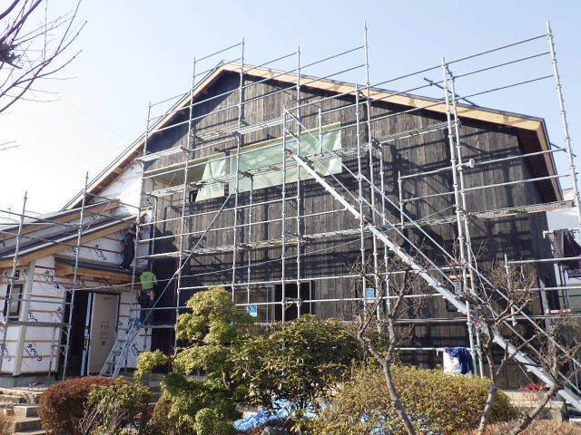 向中野の家 フルリフォーム工事 大工工事進行中!_f0105112_04421158.jpg