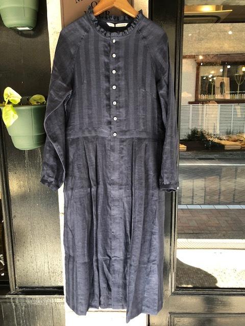 GRANDMA MAMA DAUGHTER Frillneck Dress& Linen Dolman Jacket_a0222424_12102215.jpg