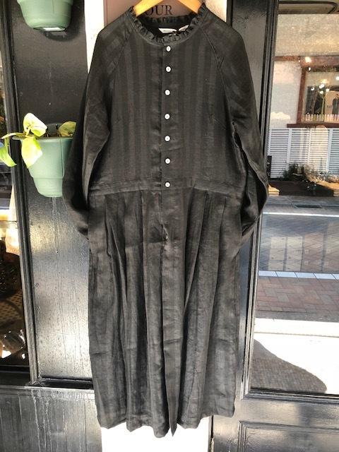 GRANDMA MAMA DAUGHTER Frillneck Dress& Linen Dolman Jacket_a0222424_12102972.jpg