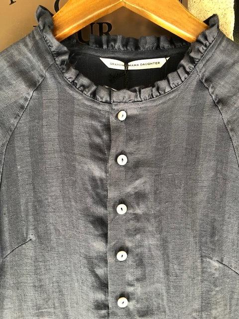 GRANDMA MAMA DAUGHTER Frillneck Dress& Linen Dolman Jacket_a0222424_12103639.jpg