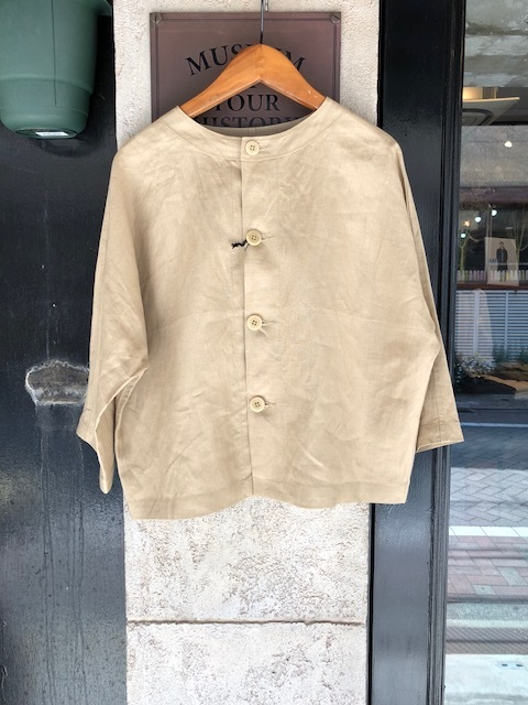 GRANDMA MAMA DAUGHTER Frillneck Dress& Linen Dolman Jacket_a0222424_12105239.jpg