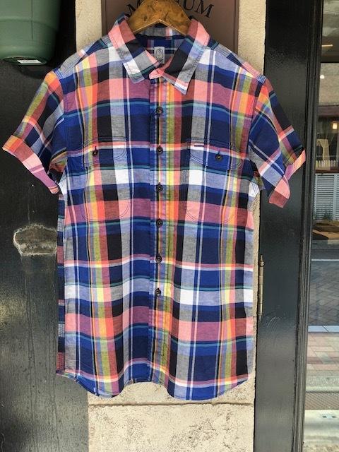 KATO\' BASIC  madrascheck Workshirt & GRANDMA MAMA DAUGHTER  madras opencolor shirt_a0222424_21522840.jpg