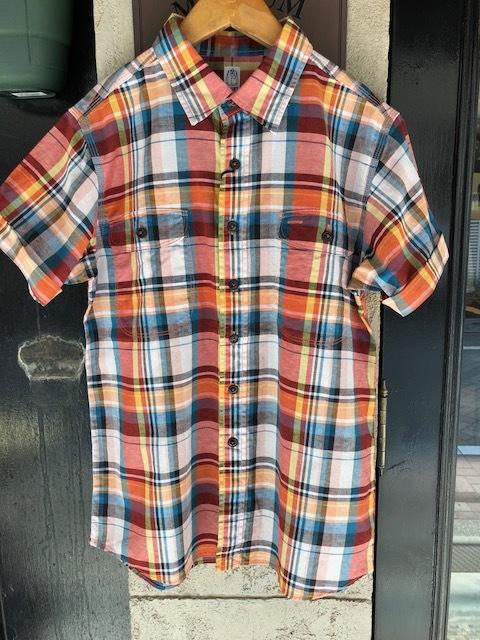 KATO\' BASIC  madrascheck Workshirt & GRANDMA MAMA DAUGHTER  madras opencolor shirt_a0222424_21523596.jpg
