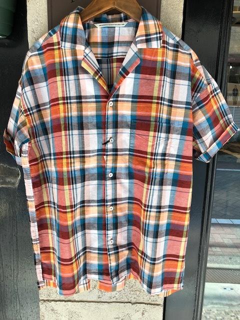 KATO\' BASIC  madrascheck Workshirt & GRANDMA MAMA DAUGHTER  madras opencolor shirt_a0222424_21525345.jpg