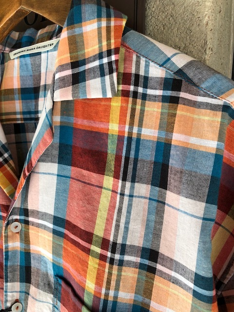 KATO\' BASIC  madrascheck Workshirt & GRANDMA MAMA DAUGHTER  madras opencolor shirt_a0222424_21530830.jpg