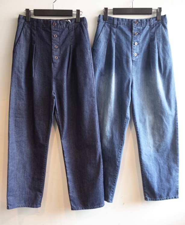 QUINOA BOUTIQUE◇Button tuck Denim Pants◇_e0269968_17500348.jpg