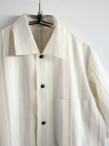 THE HINOKI Organic Cotton Half Sleeve Shirt / Stripe_b0139281_12461425.jpg