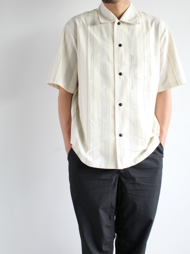 THE HINOKI Organic Cotton Half Sleeve Shirt / Stripe_b0139281_1246211.jpg