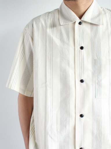 THE HINOKI Organic Cotton Half Sleeve Shirt / Stripe_b0139281_12462747.jpg