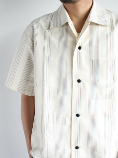 THE HINOKI Organic Cotton Half Sleeve Shirt / Stripe_b0139281_12463437.jpg