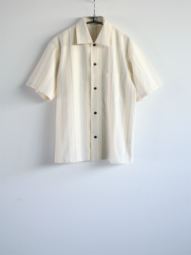 THE HINOKI Organic Cotton Half Sleeve Shirt / Stripe_b0139281_1246975.jpg