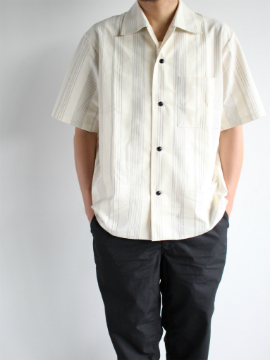 THE HINOKI Organic Cotton Half Sleeve Shirt / Stripe_b0139281_12474930.jpg