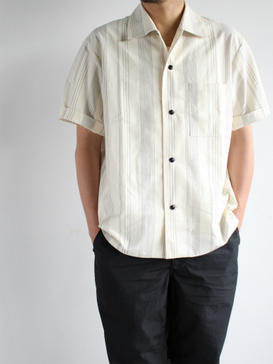 THE HINOKI Organic Cotton Half Sleeve Shirt / Stripe_b0139281_12475449.jpg
