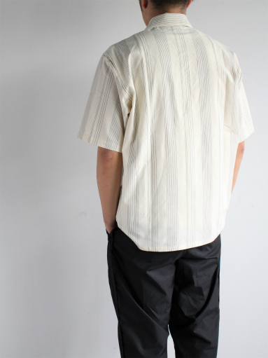 THE HINOKI Organic Cotton Half Sleeve Shirt / Stripe_b0139281_12475891.jpg