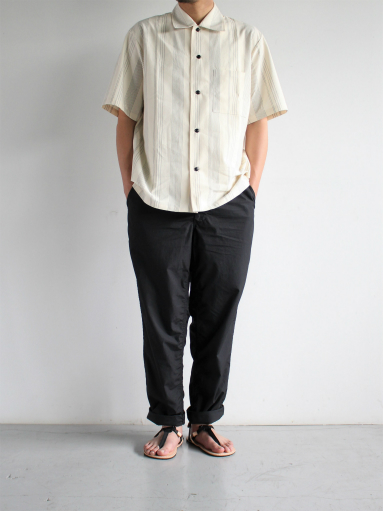 THE HINOKI Organic Cotton Half Sleeve Shirt / Stripe_b0139281_12481681.jpg