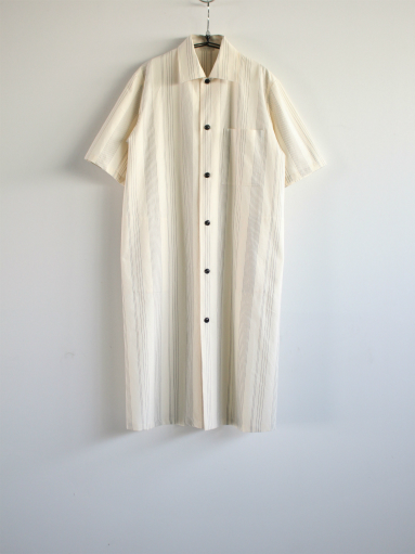 THE HINOKI Organic Cotton Half Sleeve Shirt Dress / Stripe_b0139281_1284482.jpg