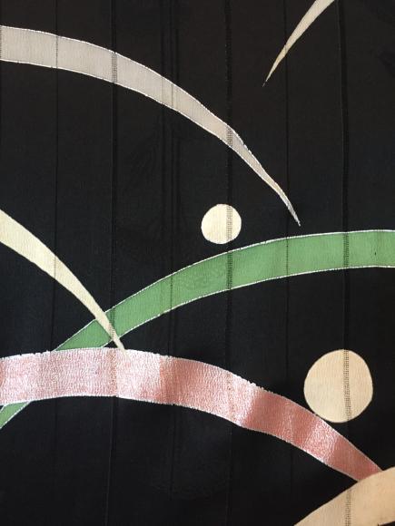 4/29より!原宿「おさんぽきもの」レア!サヤエンドウ帯×黒露芝着物♪販売商品17_c0321302_11192108.jpg