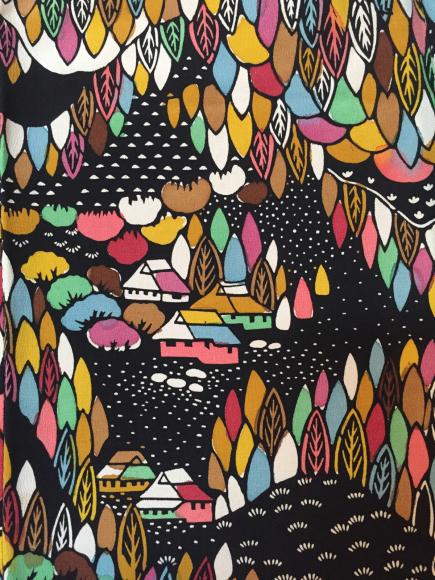 4/29より!原宿「おさんぽきもの」黒ドット着物×アールデコ帯・カラフル森着物×紫蝶帯♪販売商品25_c0321302_15151168.jpg