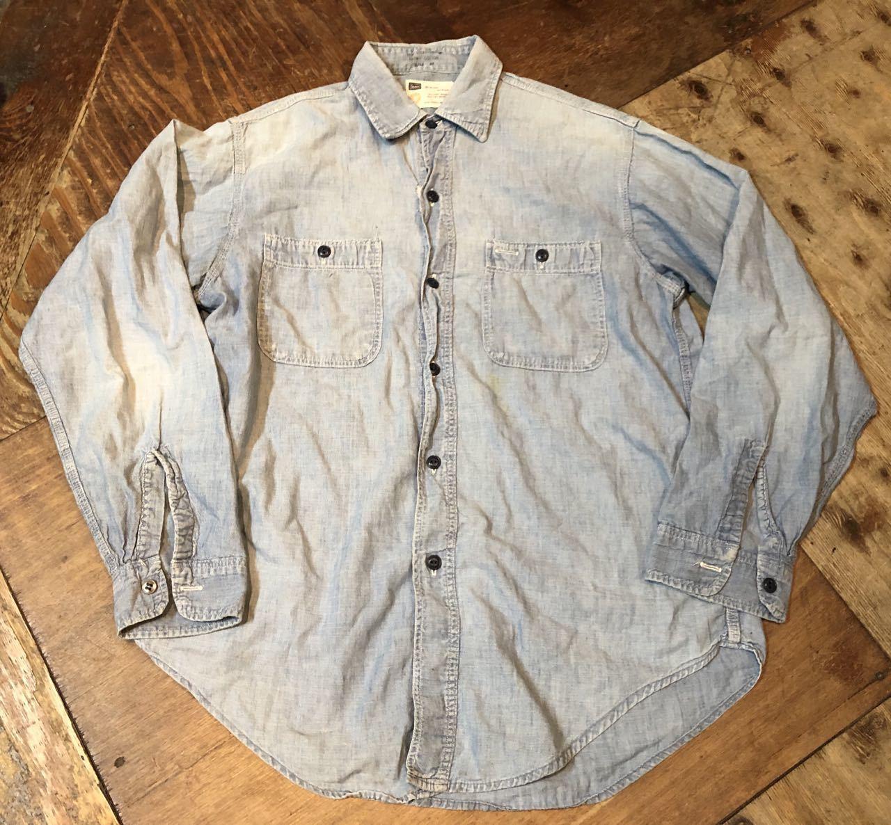 4月29日(月)60s〜all cotton SEARS シャンブレーシャツ! _c0144020_18445637.jpg