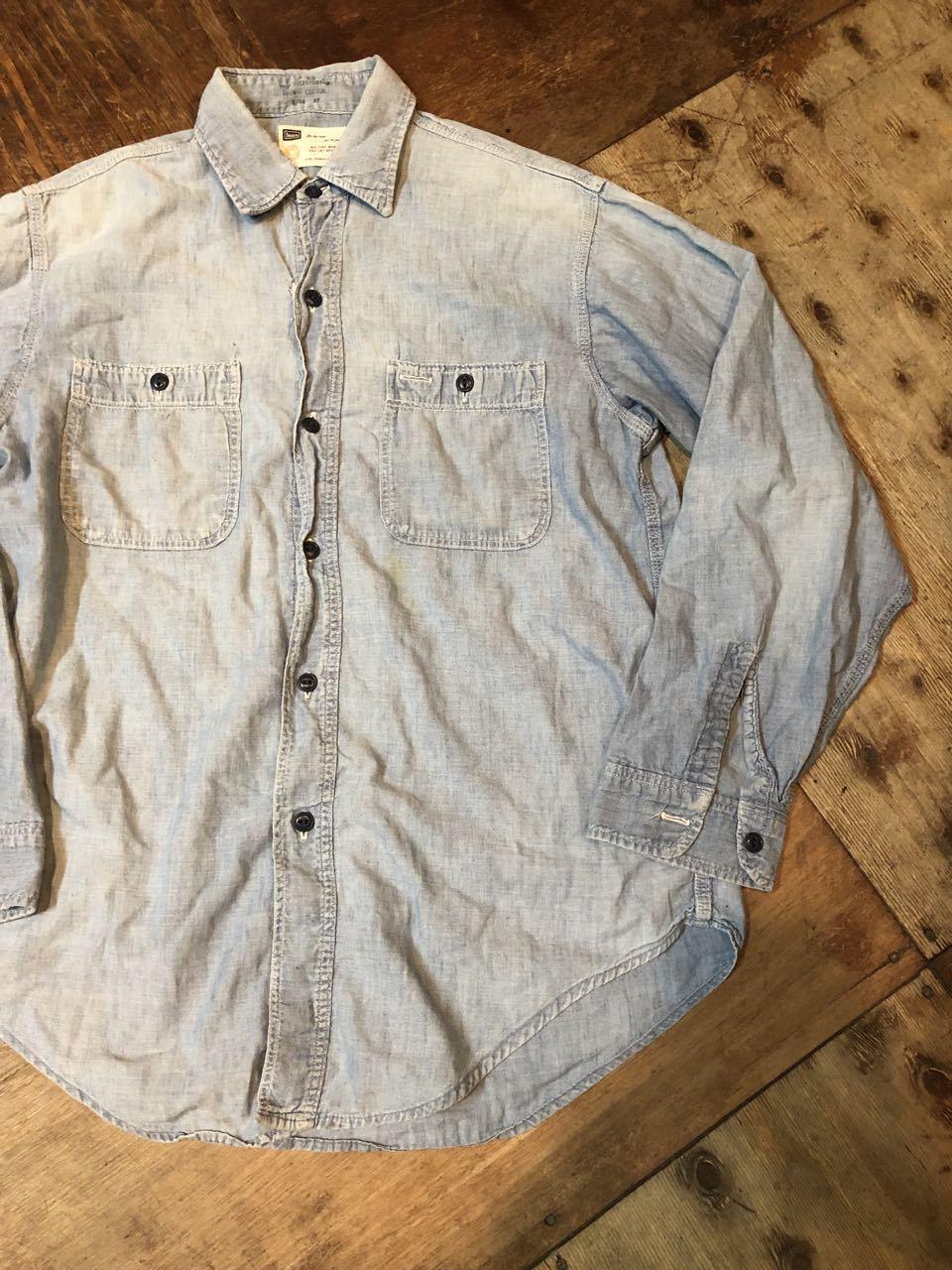 4月29日(月)60s〜all cotton SEARS シャンブレーシャツ! _c0144020_18450078.jpg